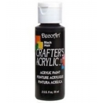 DecoArt Crafter's Acrylic Paint  59ml, Black NOIR