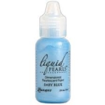 Liquid Pearls Dimensional Paint BABY BLUE, by Ranger 18ml, Paper and Fabric