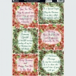 Kanban Die cut  SPECIAL CHRISTMAS SENTIMENT Toppers