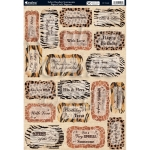 Kanban Die cut Toppers Sheet A4, SAFARI, Boudoir Sentiments