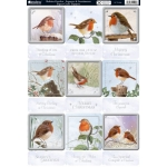 Kanban Die cutToppers ROBINS GARDEN Squares & Sentiments, Christmas