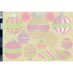 Kanban Die Cut Toppers A4, Pink Christmas Baubles - Last chance!!