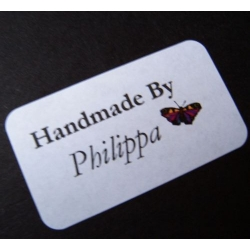 HANDCRAFTED BY labels. Choose your wording. (#65)