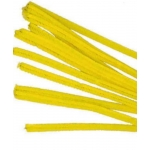 "Pack 25 Pipe Cleaners/Chenille Stems. 12"" YELLOW"