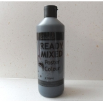POSTER PAINT, Ready Mixed. 170ml Bottle. BLACK