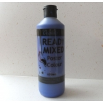 POSTER PAINT, Ready Mixed. 170ml Bottle. BLUE