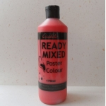 POSTER PAINT, Ready Mixed. 170ml Bottle. RED
