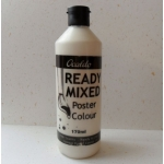 POSTER PAINT, Ready Mixed. 170ml Bottle. WHITE