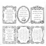 Large Sheet PEEL-OFF Self Adhesive Verses. Birthdays/Friendship. SILVER (01/02)