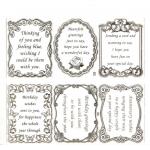 Large Sheet PEEL-OFF Self Adhesive Verses. Mixed Themes. SILVER (03/04)