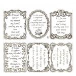 Large Sheet PEEL-OFF Self Adhesive Verses. Family Members. GOLD (07/08)