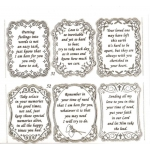 Large Sheet PEEL-OFF Self Adhesive Verses. Sympathy. SILVER (51/52)