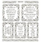 Large Sheet PEEL-OFF Self Adhesive Verses. Birthdays/Friendship. SILVER(652101)