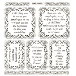 Large Sheet PEEL-OFF Self Adhesive Verses. Birthdays/Friendship. GOLD (652101)