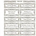 Large Sheet PEEL-OFF Self Adhesive Verses. Mixed Sentiments. SILVER (652102)