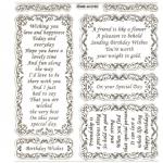 Large Sheet PEEL-OFF Self Adhesive Verses. Birthday/Friendship. SILVER (652103)