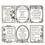 Large Sheet PEEL-OFF Self Adhesive Verses. Wedding/Anniversary/Love SILVER (81/82)