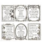 Large Sheet PEEL-OFF Self Adhesive Verses. Wedding/Anniversary/Love. GOLD (81/82)