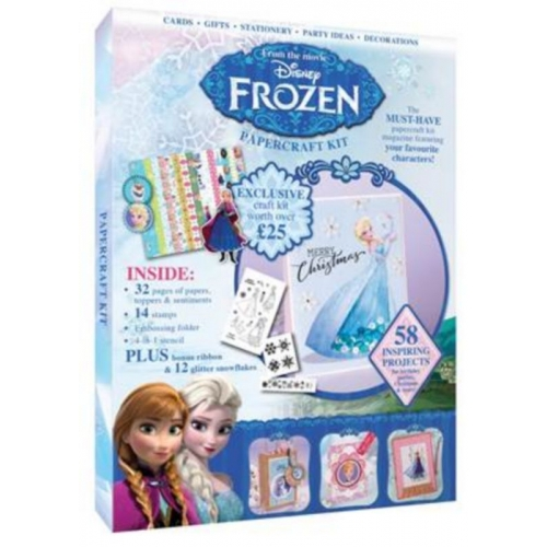 Disney FROZEN PAPERCRAFT KIT Magazine Toppers Papers Stamp Set More