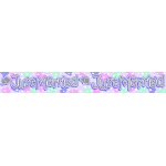 Party Banner/Sash.  2.6m / 8ft 6