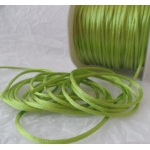 By the Metre, LIME SPRING GREEN Satin RATTAIL RIBBON Cording 2mm