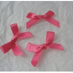 Ribbon Bows. 30mm Satin. FUCHSIA PINK.  QTY: 24