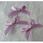 Ribbon Bows. 30mm Satin. LILAC.  QTY: 24
