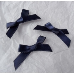 Ribbon Bows. 30mm Satin. MIDNIGHT BLUE.  QTY: 24