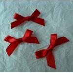 Ribbon Bows. 30mm Satin. RED.  QTY: 24