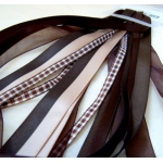 Debbi Moore CHOC BROWNS Fancy Ribbon Combo , 5 x 1m