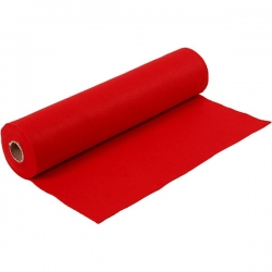 Craft Felt 45cms wide, RED by the metre