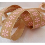 By The Metre.... Kraft Ribbon PINK 15mm wide