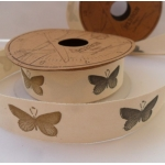 Vintage Style BUTTERFLY Printed Ribbon Tape 20mm wide. 2.5m Reel