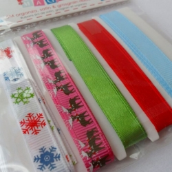 Dovecraft Merry Magic CHRISTMAS CONTEMPORARY Ribbons Combo, 5m