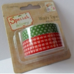 Special Delivery 16m WASHI TAPE, Brights Red & Green, by Helz Cuppleditch