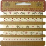 Christmas Fun Ribbons, 10m total, Lynette Anderson Designs