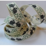 By the METRE....  COUNTRY GARDEN BUNNY Ribbon, 15mm wide