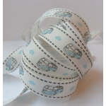 By the METRE....  CAMPER VAN, Blue, Ribbon, 15mm wide