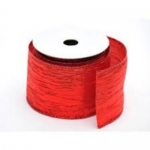 By The Metre.... Metallic RED Wired Crinkle Ribbon, 60mm wide