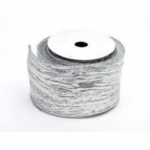 By The Metre.... Metallic Silver Wired Crinkle Ribbon, 60mm wide