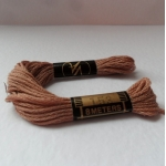 MINK BUFF Brown Embroidery Thread 8m Skein 100% Cotton