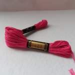 EMBROIDERY THREAD. 8m Skein, 100% Cotton CERISE PINK