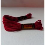 EMBROIDERY THREAD. 8m Skein, 100% Cotton. BORDEAUX RED