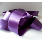 25m Reel. SATIN Ribbon 7mm wide. PURPLE (Col48)