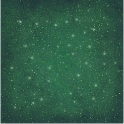 12 x 12 Background Paper, Christmas Stars on Green Texture