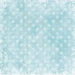 12 x 12 Background Paper, Snowflakes on Ice Blue