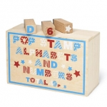 Wooden Stamp Set & Numbers (40 pce boxed set)