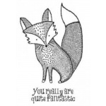 MR FOX Set of 2 mounted cling stamps Creative Expressions