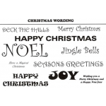 Unmounted Stamp Set CHRISTMAS WORDING by Creative Expressions