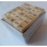 Dovecraft Mini Wooden Alphabet Stamp Set